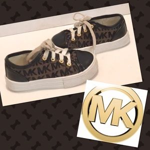 MICHAEL MKORS Black Signature SNEAKERS UNISEX 7US